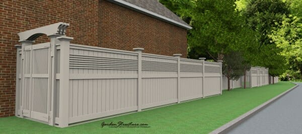 fence designs with gates plans to build the New Yorker fence