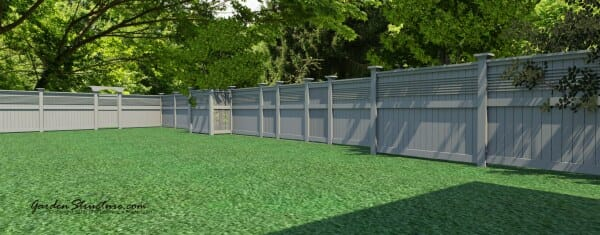 "Fence plans for the ""New Yorker"" fence design"
