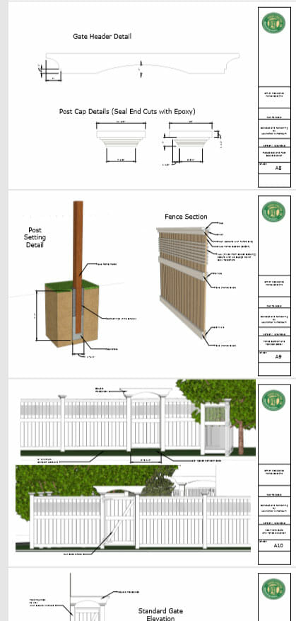 sample of plans designs fences